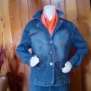LA blues plus size women's Denim blazer